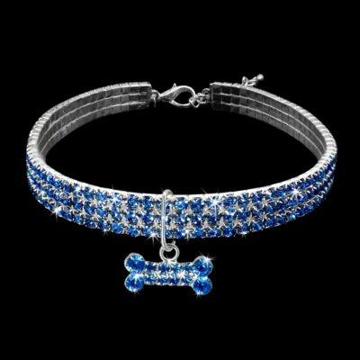 Schmuckhalsband für Hunde, Hundehalsband mit Diamanten