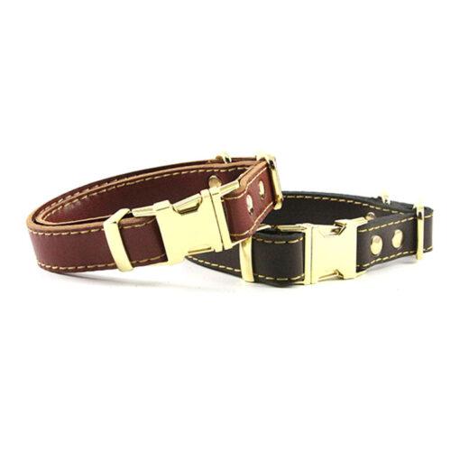 Lederhalsband für Hunde, Hunde-Halsband. Echt Leder Halsband
