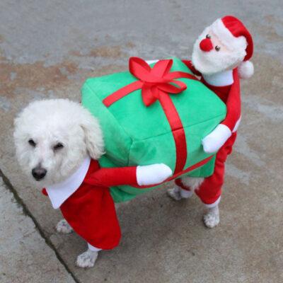 Hundekostüm Weihnachtsmann, Kostüme für Hunde, Hunde Cosplay, Verkleidung für Hunde onlineshop