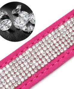 Lederhalsband mit Steinen, Hunde-Halsband mit Gravur, Schmuck Ketten für Hunde Hundeschmuck, Hundehalsband mit Diamanten, Beverly Hills Chihuaua Halsband