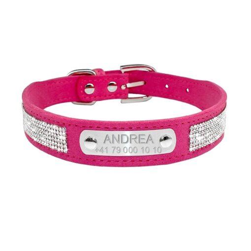 Hunde-Halsband mit Name eingraviert, Hundehalsband Name eingravieren, personalisierbares Hundehalsband