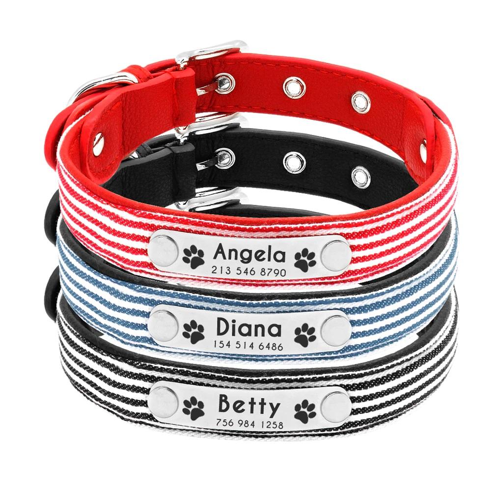 Hundehalsband mit Gravur, Hundehalsband mit Name, Personalisierbares Halsband für Haustiere, Halsband mit persönlichem Name, Katzenhalsband mit Name, Halsband für Katze mit Name Gravur