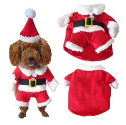 Hundekostüm, Verkleidung für Hunde, Wihnachtsmann Kostüm für Hunde, Halloween-Kostüm für Hunde