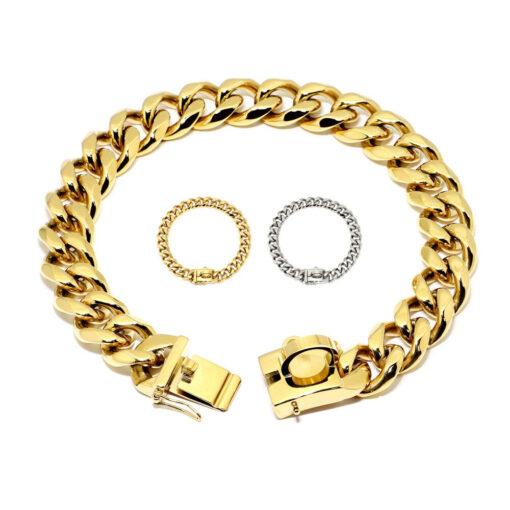 Gold Kette Hund Halsband