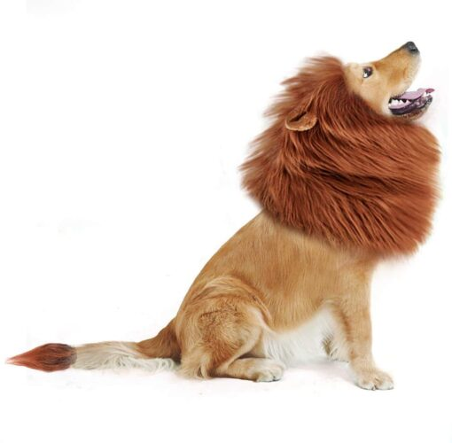 Hunde Löwenmähne Perücke
