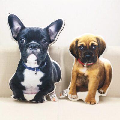 Fotodruck-Kissen eigenes Foto, personalisierbare Plüsch Haustiere Kissen Fotodruck