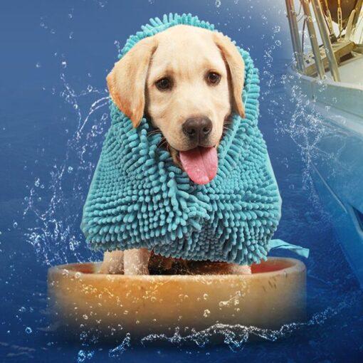 Trocknungstuch für Hunde, Hunde-Trocknungstuch, Hundepflege, Hundereinigung, Online-Shop für Haustierzubehör