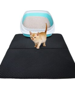 Katzenstreu-Matte, Katzenklo-Vorleger, Katzenklomatte, Katzensand-Auffangmatte, Katzensand-Matte