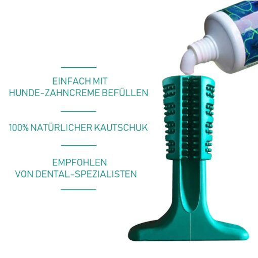 Zahnreinigungs-Spielzeug für Hunde, Hundezahnbürste-Spielzeug, Mundpflege für Hunde, Kau-Spielzeug, Hundezahnbürste