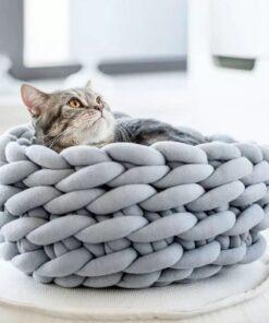 Katzenkorb Katzenbett Seilgeflecht
