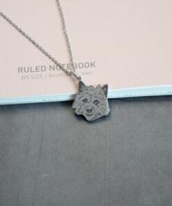 Haustier Gravur Halskette, eigenes Foto, Halskette