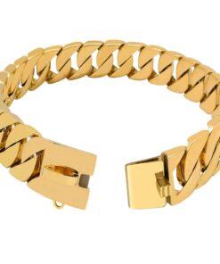 Hunde Halskette Stahl, Gold, Siber Hunde Halskette
