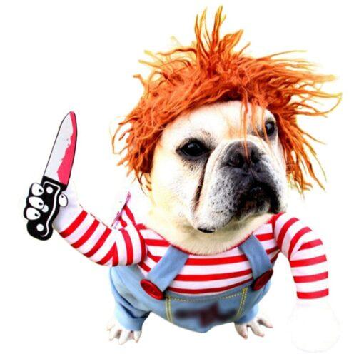 Hunde-Kostüm mit Messer Schweiz