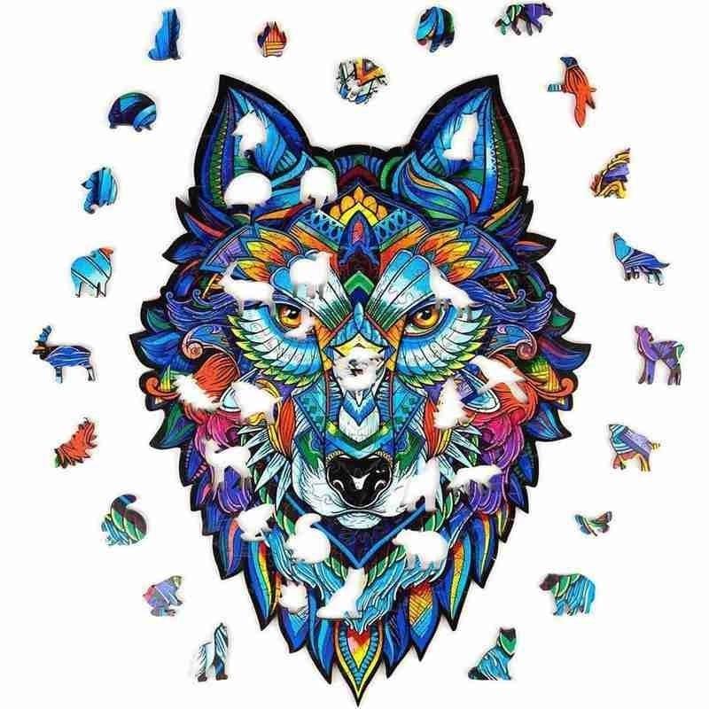 Wolf Tier Puzzle aus Tieren