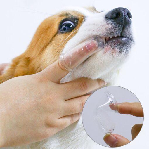 Hunde Finger-Zahnbürste Mundpflege