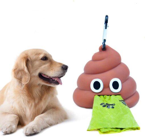 Kot-Emoji Hundekotbeutel Dispenser