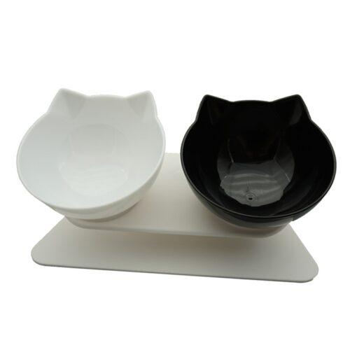 Designer Doppelnapf Katze