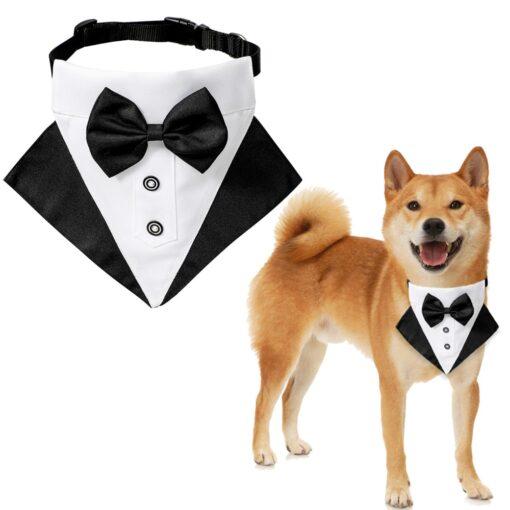 Hundekostüm Hundeanzug mit Fliege