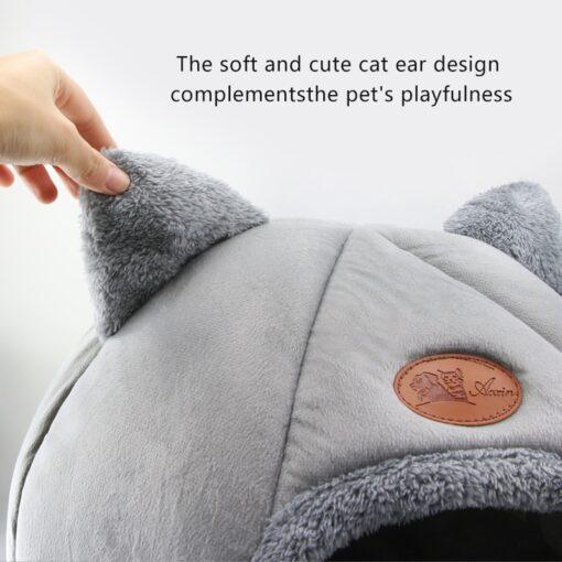 Süsser Katzenkorb Grau