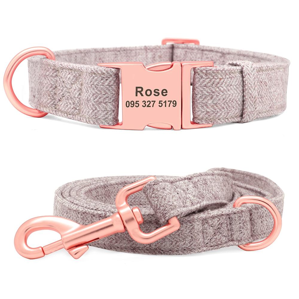 Gravur Hunde Name Halsband und Leine