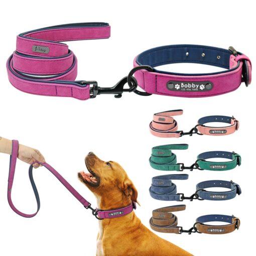Hundehalsband Leine Set mit Name